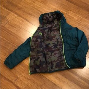 Boys reversible North Face winter jacket